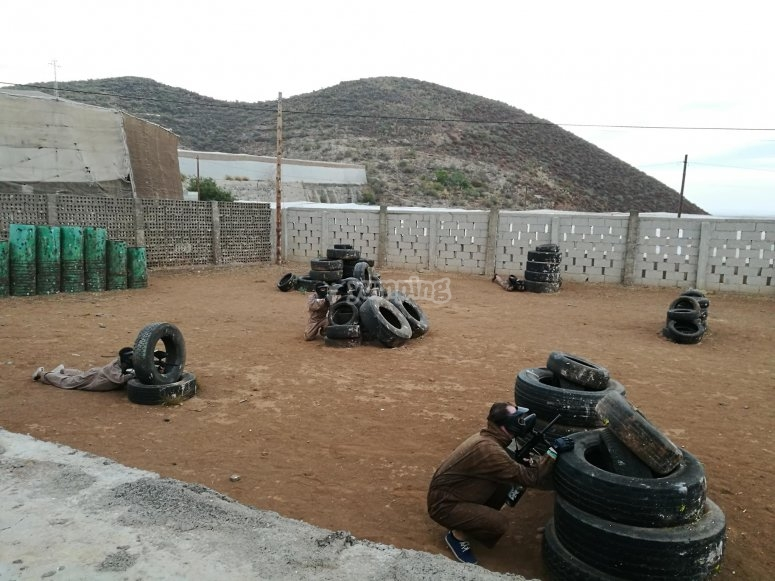 Paintball for teambuilding in Tenerife