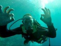 Submarinista comunicandose