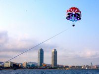 Parasailing, Gulf of Roses, Spain