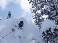 Lifting the virgin snow