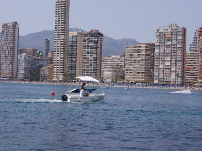 Sail a boat with licence in Benidorm for 8 hours