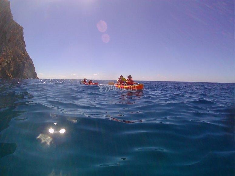 Excursion en el kayak