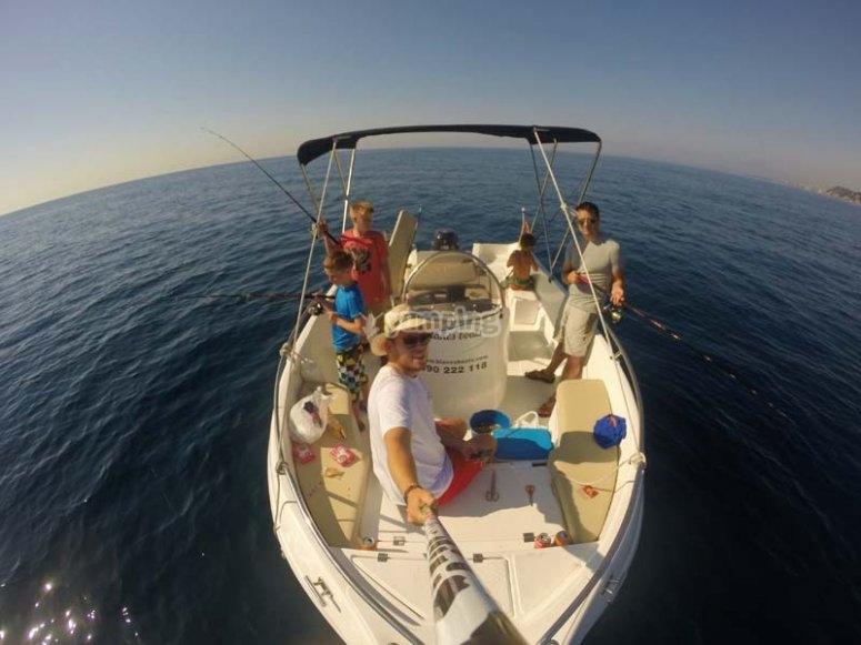 Selfie en el barco
