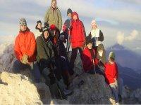 Nuestro equipo en la cima el Teide