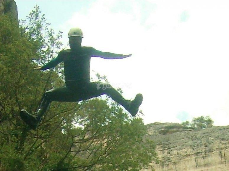 Gran salto en el barranco