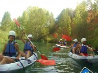 Canoe ride in Júcar river with pictures