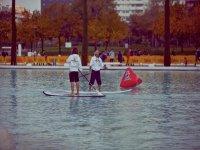桨冲浪课程和路线