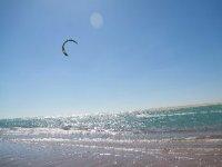 风筝冲浪,美丽的海滩Kitezone俱乐部徽标