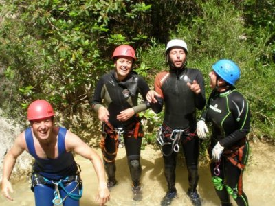 First time canyoning, valencia