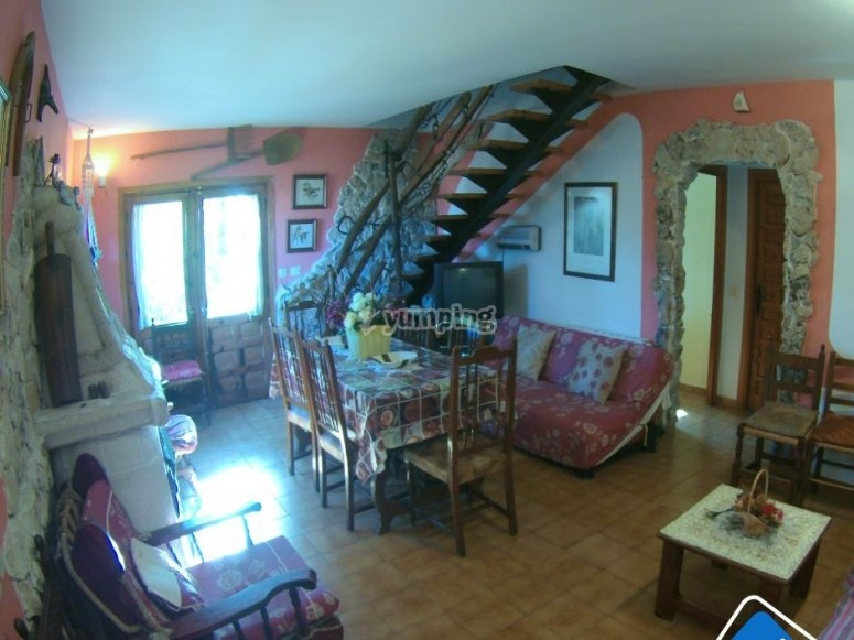 Interior de la casa rural