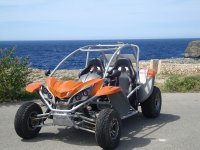 Buggy next to the beach