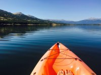 Canoe trip at the Pinilla reservoir