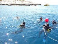 Practicando en el agua