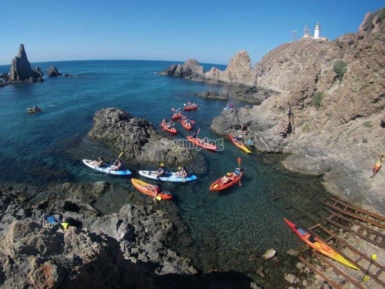 Kayaks en Cabo de Gata
