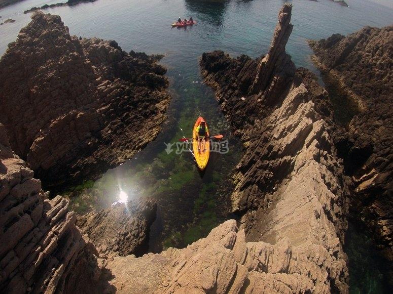Paseo en kayak