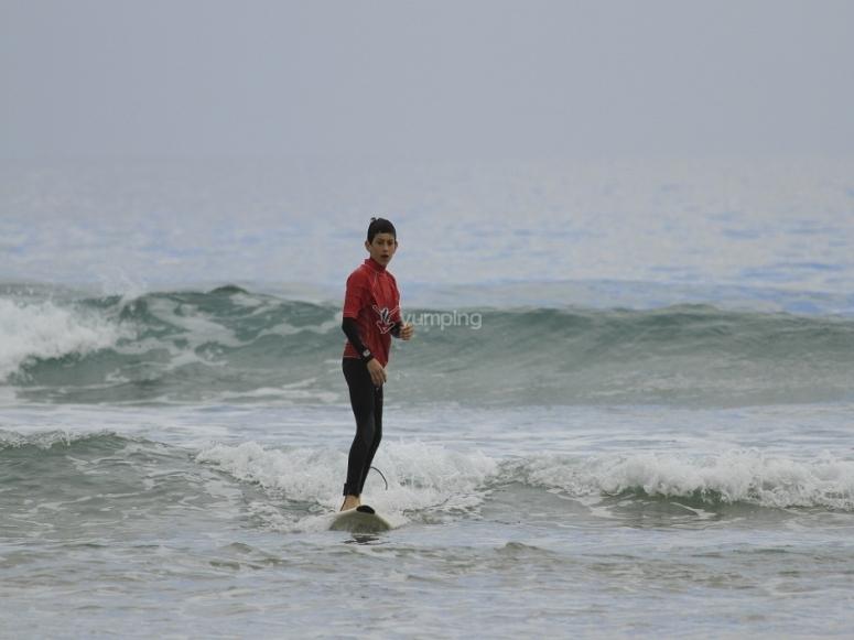 Surfeando en Asturias