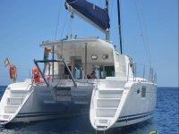 Catamaran on the coast of Almeria