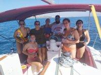 Celebration on the boat