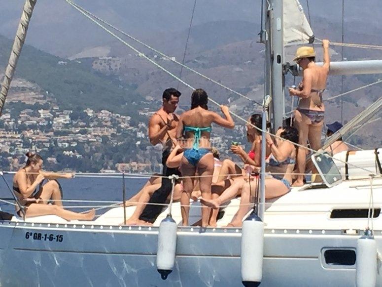Despedida en el barco