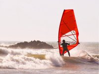 Windsurfing with waves