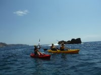 Canoeing route in Denia Caves + Snorkeling 2h.