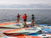 Attending to the explanations of the expert in windsurfing