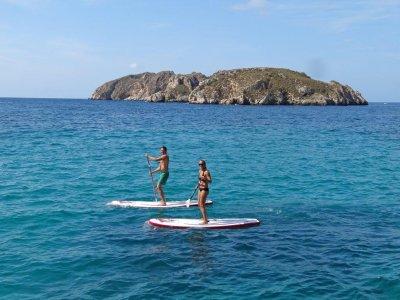 Alquilar tabla de paddle surf en Santa Ponsa 1h