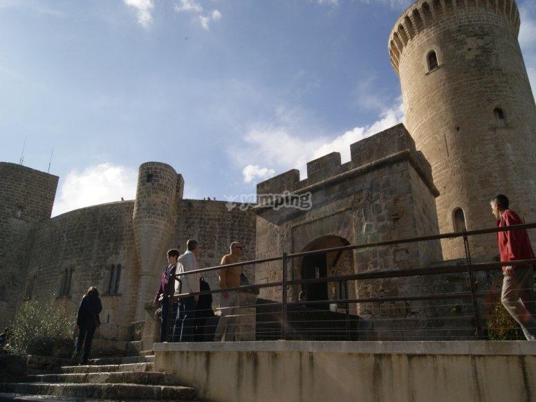 Impressive walls of the castle