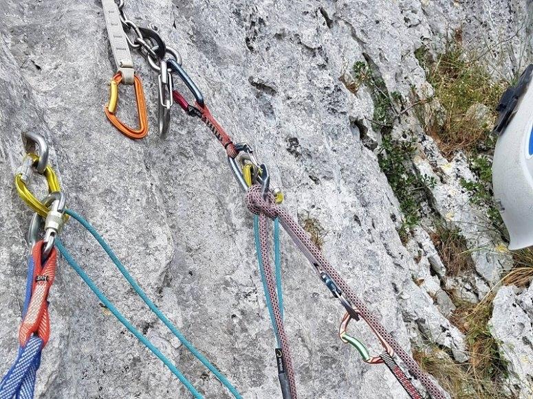 Anclajes para la escalada