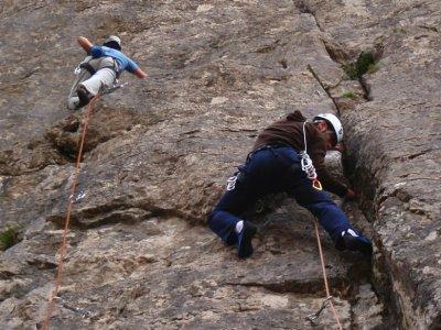 在阿拉瓦3小时攀登的入门课程