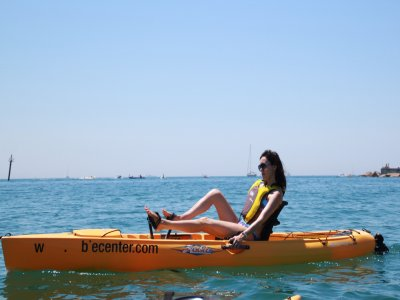 Kayak with pedals in Port Olimpic