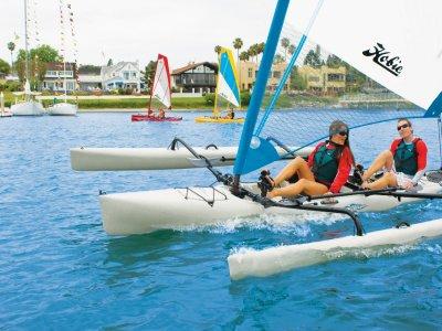 Bautizo en trimarán en el Port Olimpic