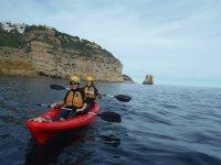 Kayaking trip for children in Denia 2 hours
