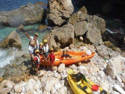 Excursión en Piragua para niños en Denia 2 horas