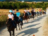 Campus externo de inglés y equitación en Añézcar