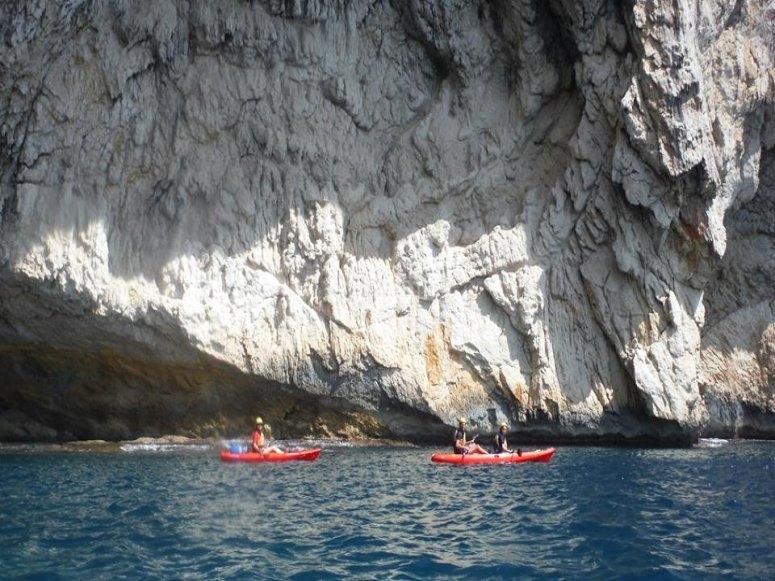 Under the cliffs