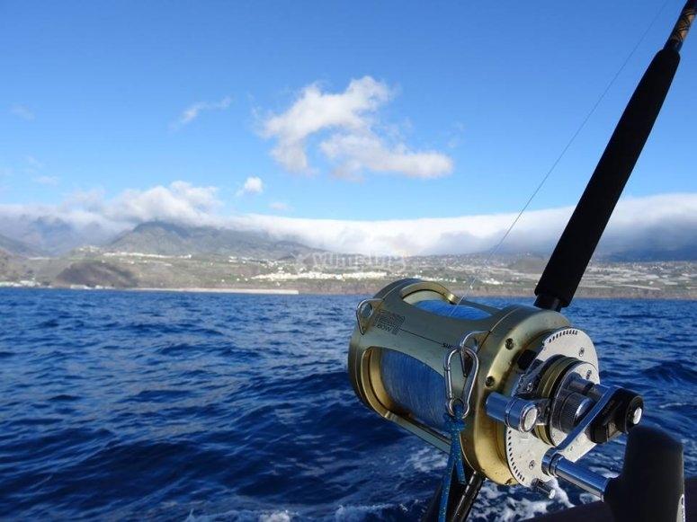 Fishing material in La Palma
