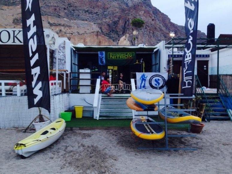 Kayak en nuestras instalaciones
