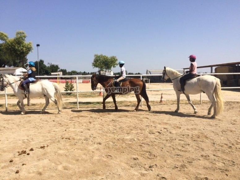 Sesión de equitación
