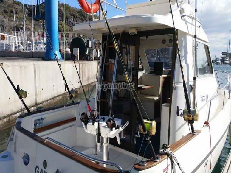 El barco desde donde pescaras