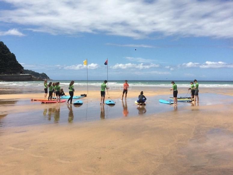 Practicas de surf