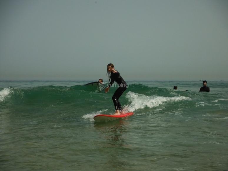 Bajando la ola
