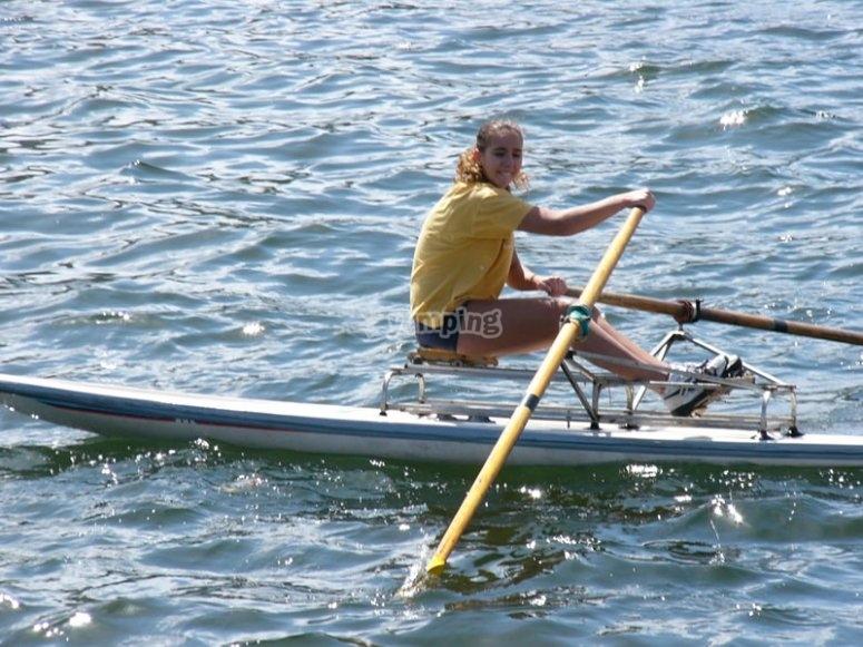 Surfing oar
