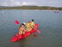 Kayaks of three