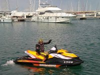 Starting from the port of Cambrils on the jet ski