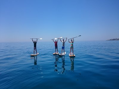 Rent the materials for SUP in Málaga for 30 min