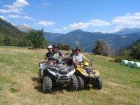 Family quad tour through the natural landscapes of Andorra