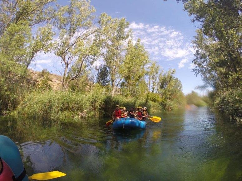 Descenso en Rafting por el Alto Tajo