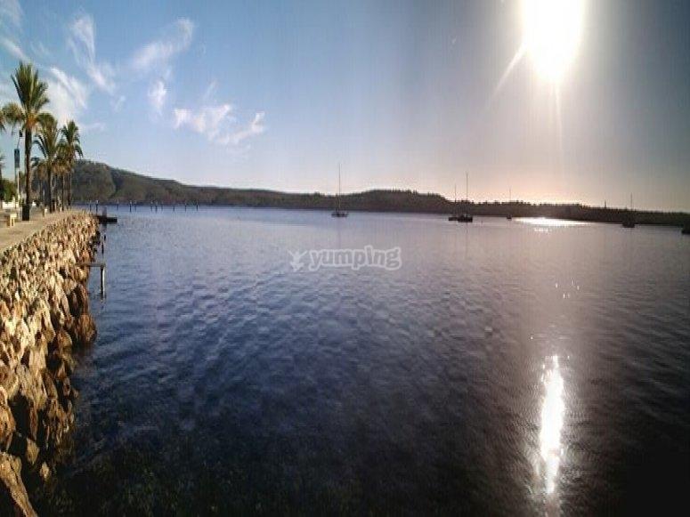 梅诺卡岛日落