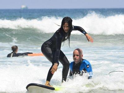 Clases particulares de surf en Somo 2 horas